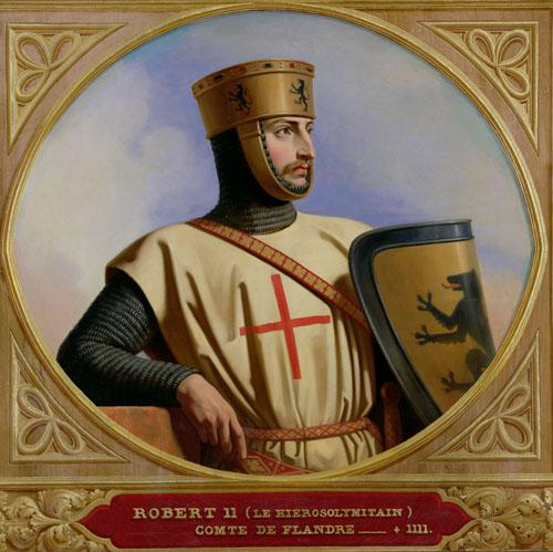 Robert II le Hierosolymitain, Count of Flanders, 1843 by Henri Decaisne