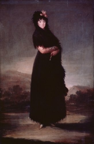 Mariana Waldstein c.1797 by Francisco de Goya