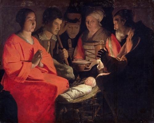 Adoration of the Shepherds by Georges De La Tour