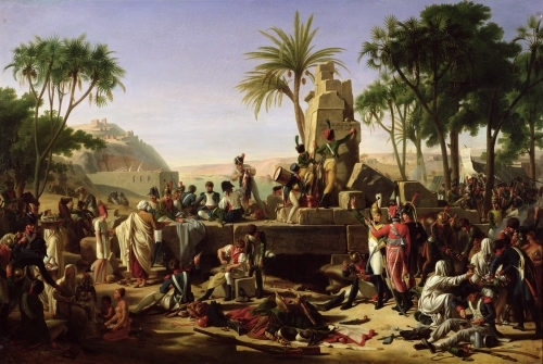 Troops halted on the Banks of the Nile 1812 by Jean-Charles Tardieu