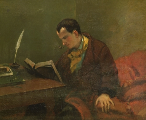 Portrait of Charles Baudelaire 1847 by Gustave Courbet