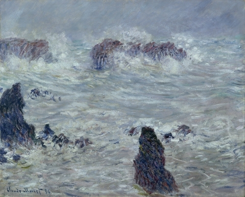 Storm off the Coast of Belle-Ile 1886 by Claude Monet