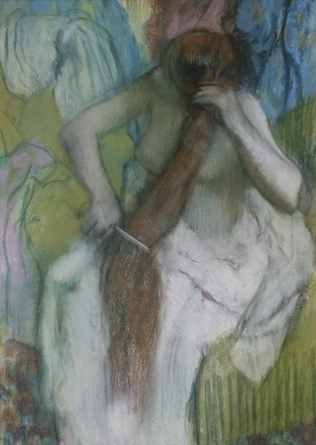 Woman Combing her Hair, 1887 by Edgar Degas