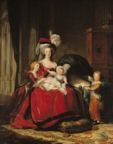 Marie-Antoinette and her Four Children 1787 by Marie Elisabeth Louise Vigee-Lebrun