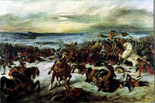 The Death of Charles the Bold at the Battle of Nancy 1831 by Ferdinand Victor Eugene Delacroix