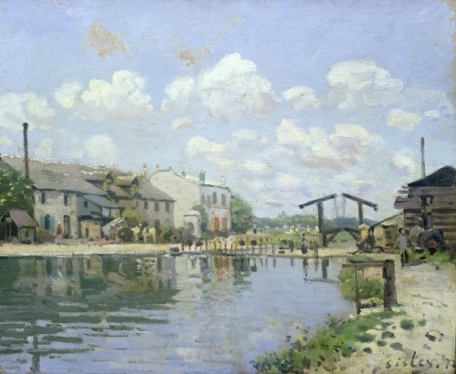 The Canal Saint-Martin Paris 1872 by Alfred Sisley