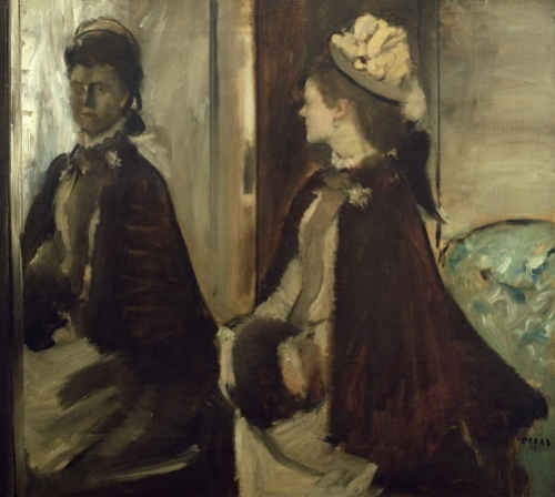 Madame Jeantaud in the mirror c.1875 by Edgar Degas