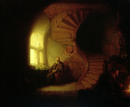 Philosopher in Meditation 1632 by Rembrandt