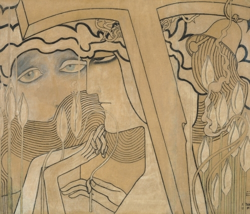 The desire and the satisfaction 1893 by Jan Theodore Toorop