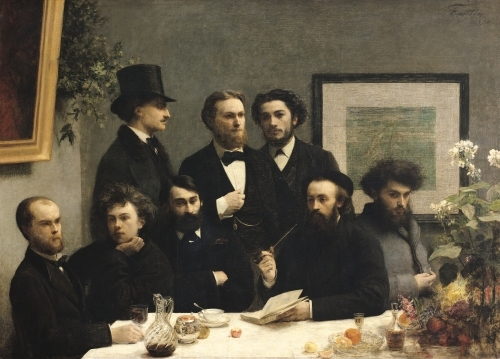 A Corner of the Table 1872 by Ignace-Henri-Théodore Fantin-Latour