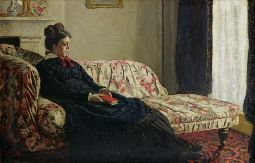 Meditation or Madame Monet on the Sofa c.1871 by Claude Monet