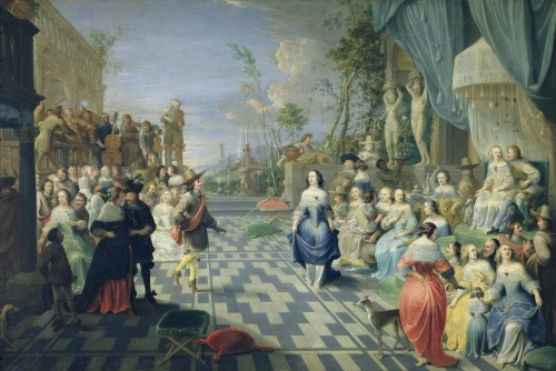 A Ball on the Terrace of a Palace by Hieronymus Janssens
