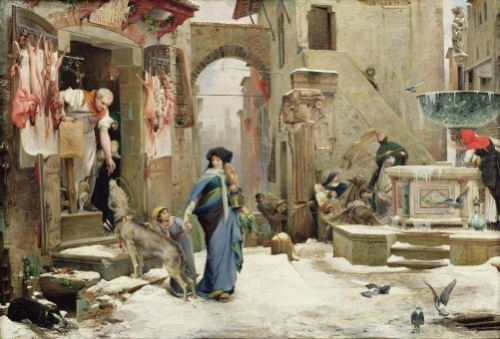 The Wolf of Gubbio 1877 by Luc-Oliver Merson