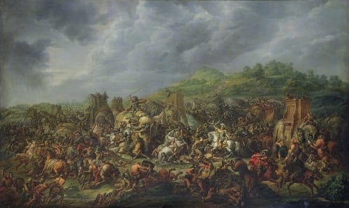 The Defeat of Porus by Alexander the Great by Francois Louis Joseph Watteau