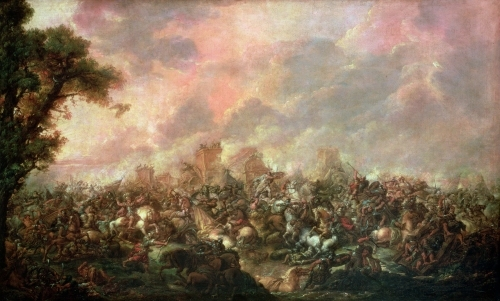 The Defeat of Darius by Alexander the Great by Francois Louis Joseph Watteau