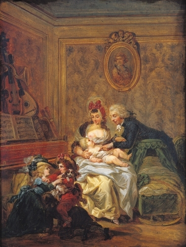 The Satisfaction of Marriage by Francois Louis Joseph Watteau