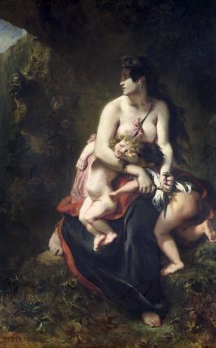 Medea 1838 by Ferdinand Victor Eugene Delacroix