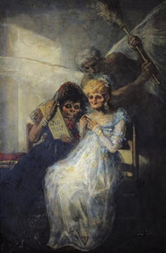 Time of the Old Women 1820 by Francisco de Goya