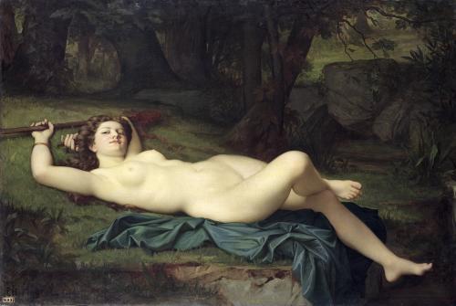 Bacchante 1864 by Pierre Honore Hugrel