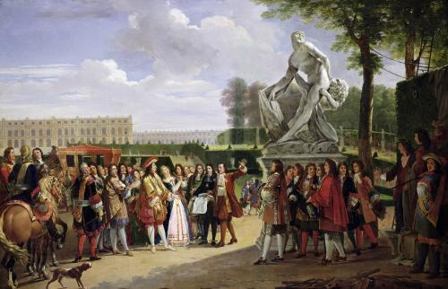 Louis XIV in the Gardens at Versailles 1819 by Anicet-Charles Lemonnier