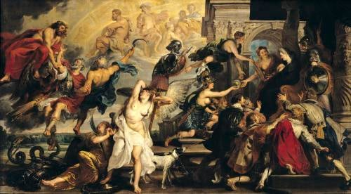 The Apotheosis of Henri IV and the Proclamation of the Regency of Marie de Medici by Peter Paul Rubens