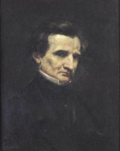 Hector Berlioz 1850 by Gustave Courbet