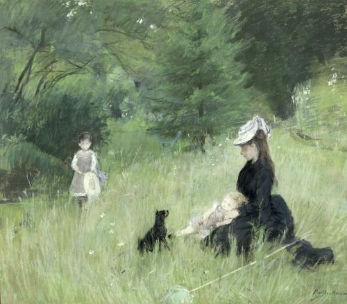 In a Park c.1874 by Berthe Morisot