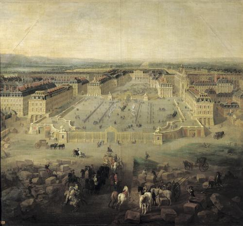 The Chateau de Versailles and the Place d'Armes 1722 by Pierre-Denis Martin