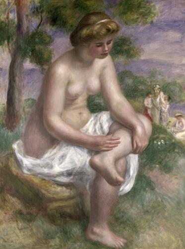 Seated Bather in a Landscape or Eurydice 1895 by Pierre Auguste Renoir