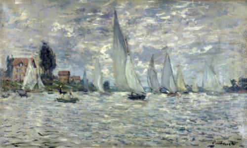 Regatta at Argenteuil c.1874 by Claude Monet
