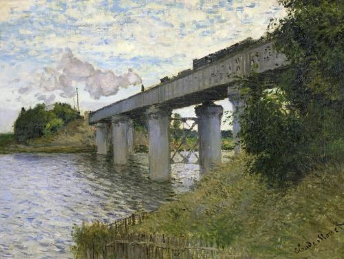 The Railway Bridge at Argenteuil c.1873 by Claude Monet
