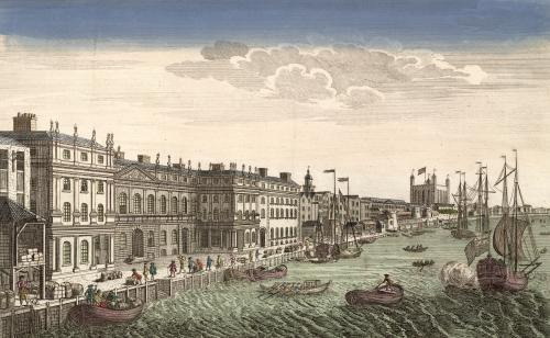 Customs House on the River Thames by French School