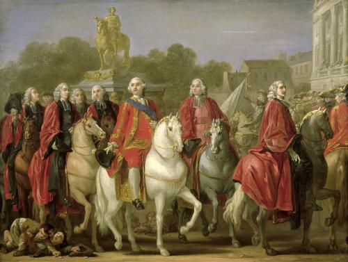 Inauguration of the Place Louis XV by Joseph-Marie Vien the Elder