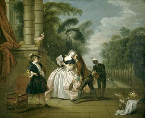 The Kiss by Jean-Baptiste Joseph Pater