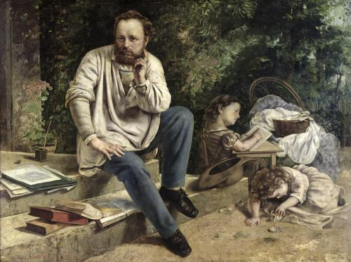 Pierre Joseph Proudhon and his children by Gustave Courbet
