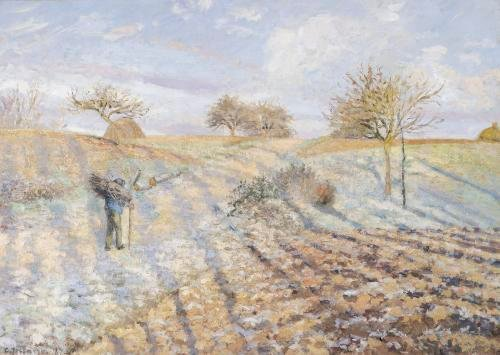 White Frost 1873 by Camille Pissarro