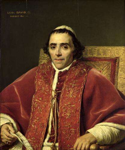 Portrait of Pope Pius VII 1805 by Jacques-Louis David