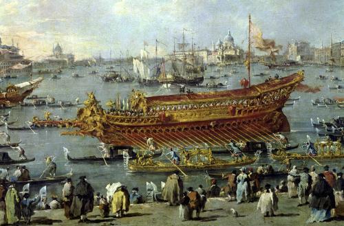 The Departure of the Bucentaur 1766 by Francesco Guardi