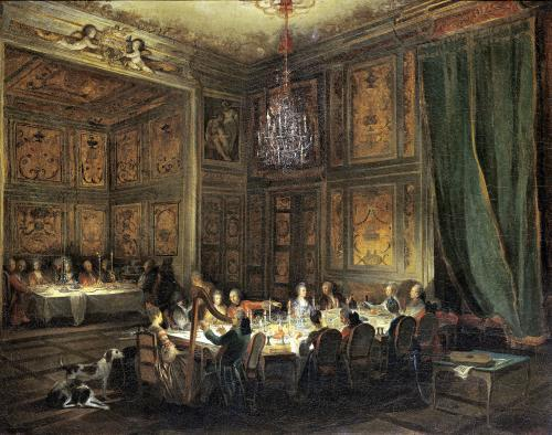 Dinner of the Prince of Conti in the Temple 1766 by Michel Barthelemy Olivier