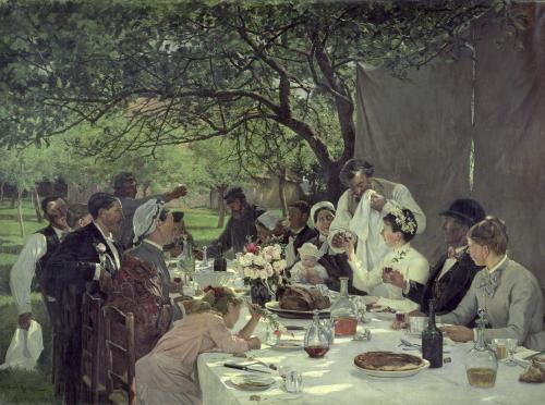 The Wedding Meal at Yport 1886 by Albert-Auguste Fourie
