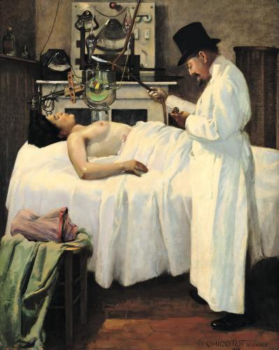 The First Attempt to Treat Cancer with X Rays by Doctor Chicotot 1907 by Georges Chicotot