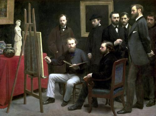 Studio at Batignolles 1870 by Ignace-Henri-Théodore Fantin-Latour