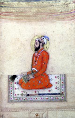 Aurangzeb at prayer Mughal by Anonymous
