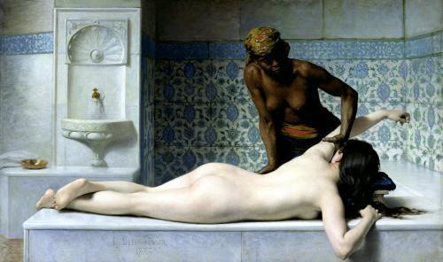 The Massage 1883 by Edouard Debat-Ponsan