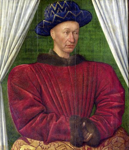 Portrait of Charles VII King of France c.1445 by Jean Fouquet