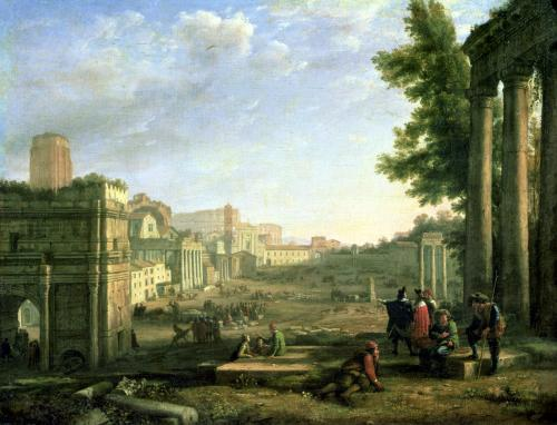 View of the Campo Vaccino Rome by Claude Lorraine