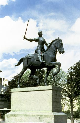 Statue of Joan of Arc from Place Cardinal Lucon by Anonymous