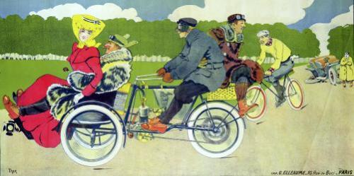 Poster advertising Griffon Cycles Motos & Tricars by Walter Thor