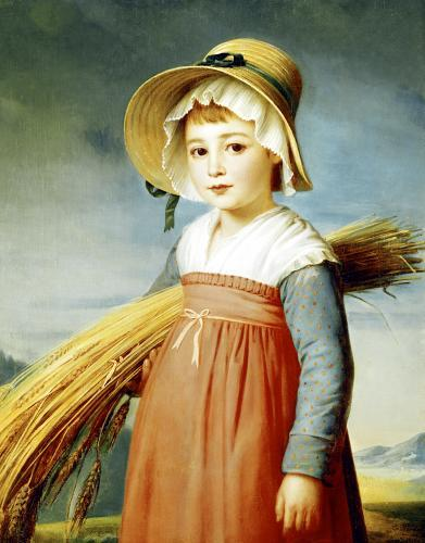 The Little Gleaner 1824 by Christophe-Thomas Degeorge