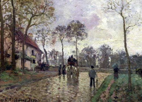 The Coach to Louveciennes 1870 by Camille Pissarro